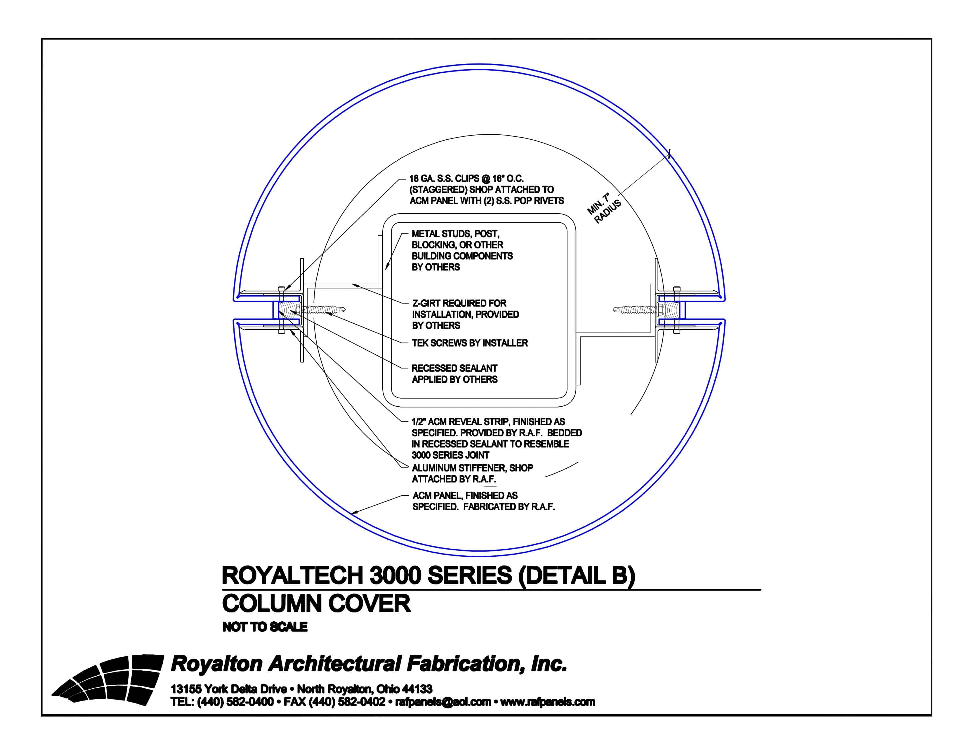 3000 Series Column Cover | Royalton Architectural Fabrications
